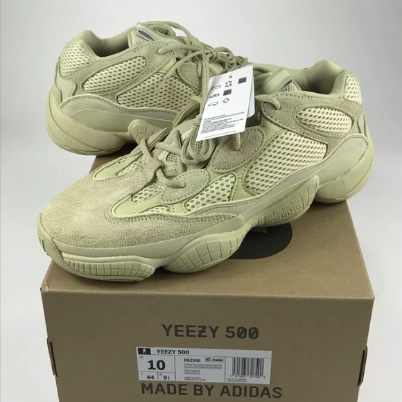 Adidas Yeezy Desert Rat 500 Super Moon Yellow 10 9f54f6282